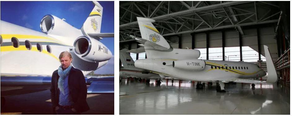 Самолет Олега Тинькова